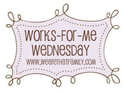 Works for me Wednesday www.wearethatfamily.com